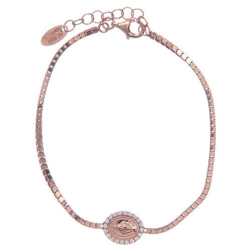 Bracciale Amen in Argento 925 Rosa Medaglia Miracolosa 1