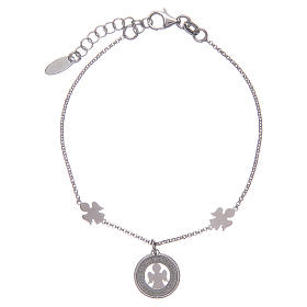 Amen bracelet in silver with angels and medal s1