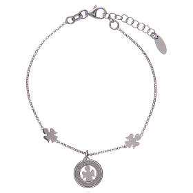 Amen bracelet in silver with angels and medal s2