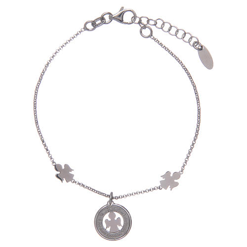 Amen bracelet in silver with angels and medal 2