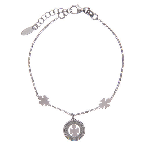 Amen bracelet in silver with angels and medal 1