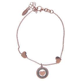 AMEN bracelets: Amen bracelet in pink silver with hearts