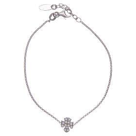 AMEN bracelets: Amen bracelet in silver, angel incrusted with zircons
