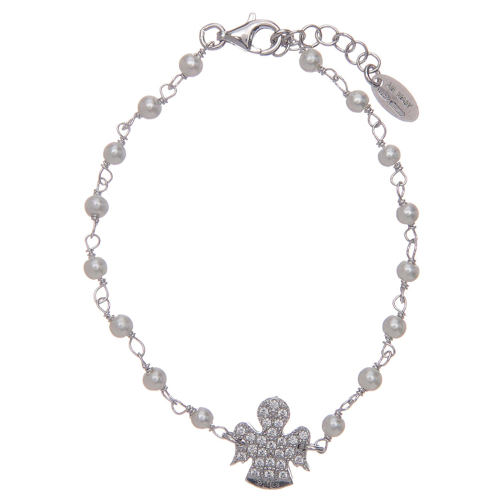 Pulsera AMEN Plata perlas y circones 4