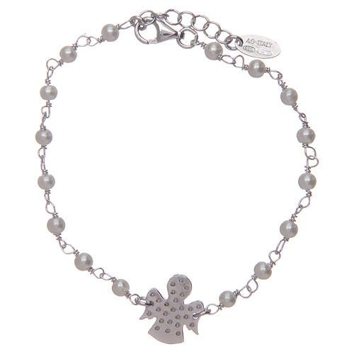 Pulsera AMEN Plata perlas y circones 2