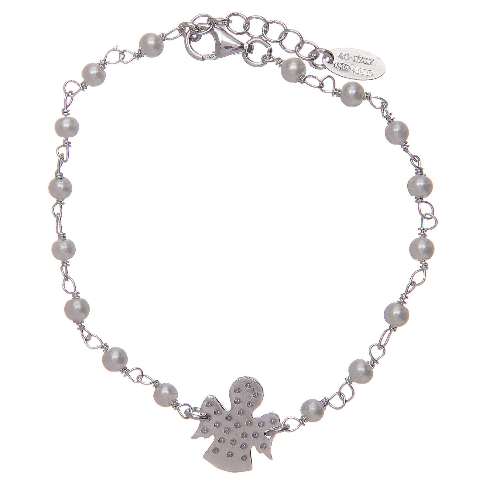 Bracciale Amen Argento perle Swarovski e zirconi 4