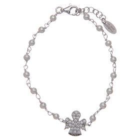 Bracciale Amen Argento perle Swarovski e zirconi s1