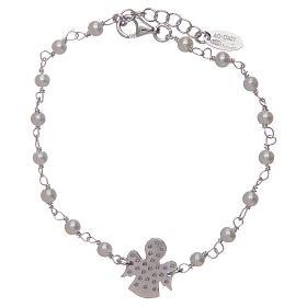 Bracciale Amen Argento perle Swarovski e zirconi s2