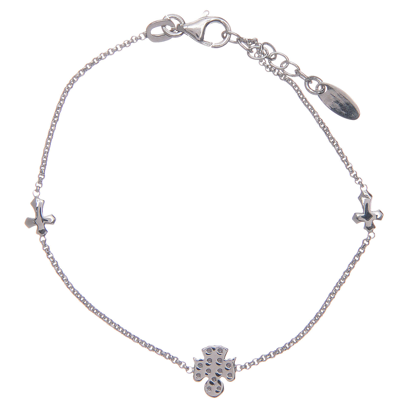 Bracciale Amen Argento 925 croci angelo zirconi 4