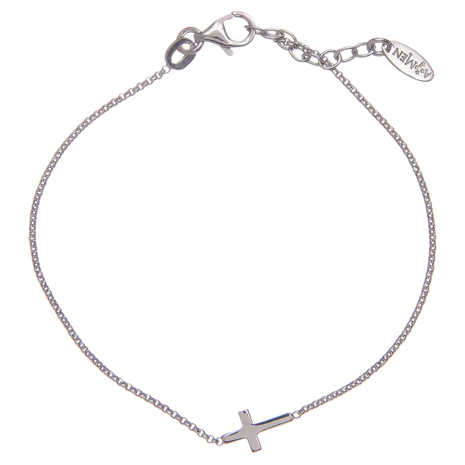 Amen bracelet in silver with cross 4