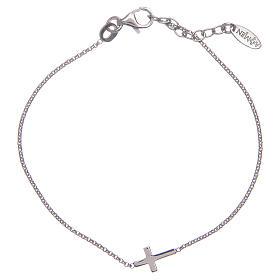 Amen bracelet in silver with cross s2