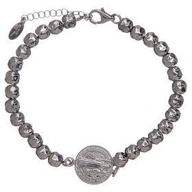 Saint Benedict men's bracelet in silver, AMEN s1