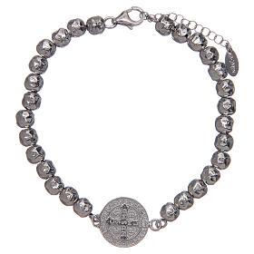 Saint Benedict men's bracelet in silver, AMEN s2