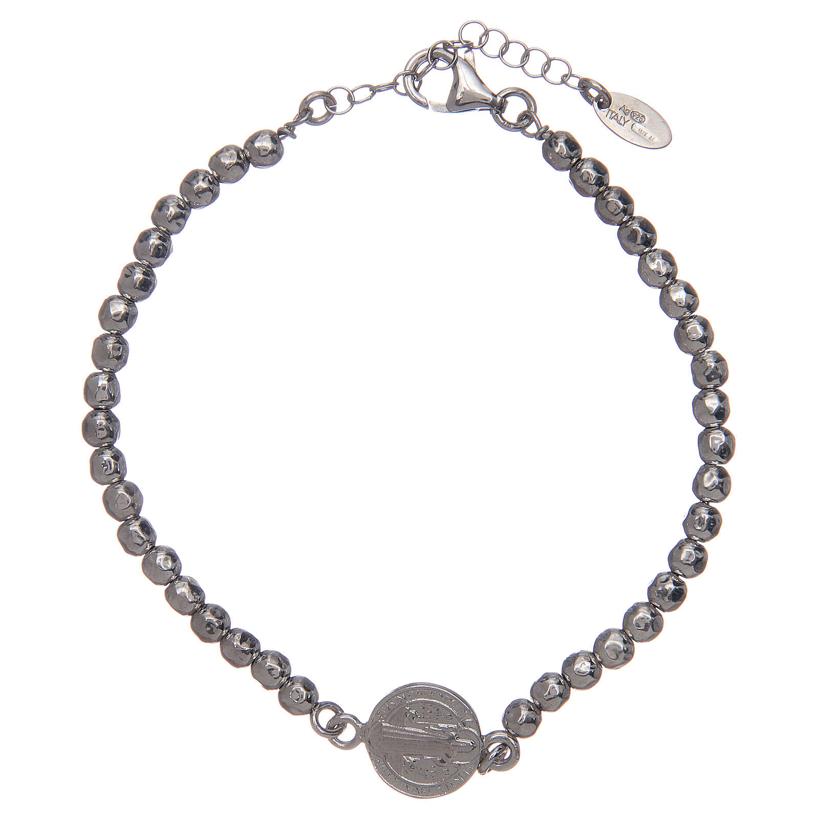 Saint Benedict men's bracelet in silver 4