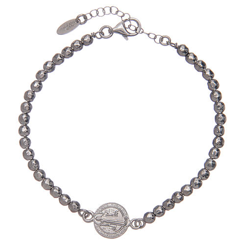 Saint Benedict men's bracelet in silver 1