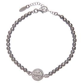 Bracelet Amen argent 925 St Benoît homme s1