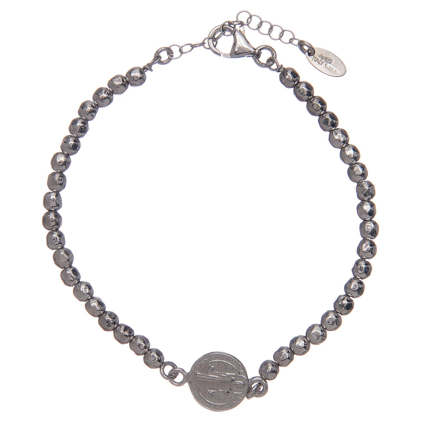 Saint Benedict men's bracelet in silver 4