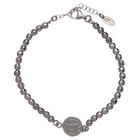 Saint Benedict men's bracelet in silver s2