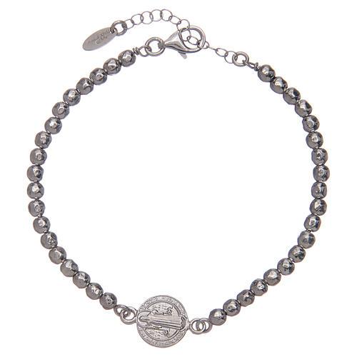 Saint Benedict men's bracelet in silver 1