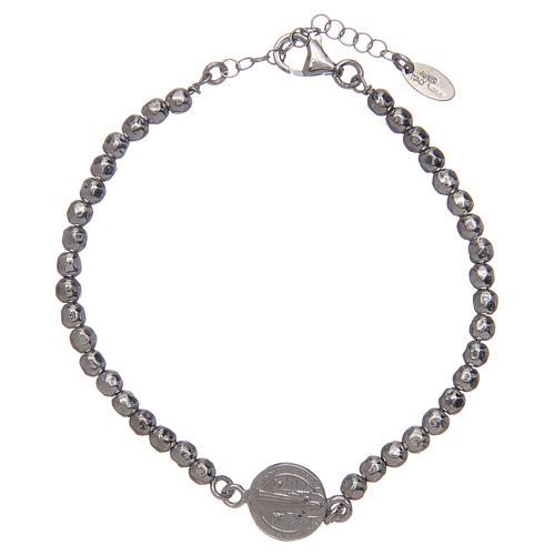 Saint Benedict men's bracelet in silver 2