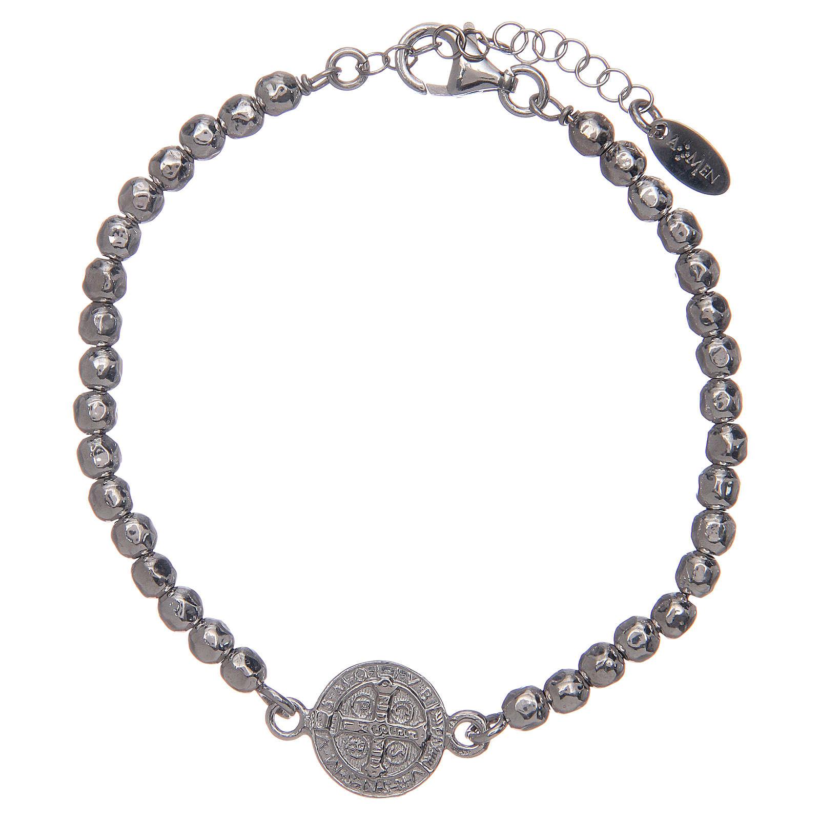 Saint Benedict medal bracelet in sterling silver 4