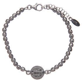 Saint Benedict medal bracelet in sterling silver s1