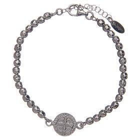 Saint Benedict medal bracelet in sterling silver s2