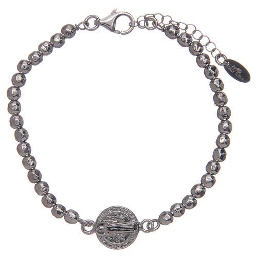 Saint Benedict medal bracelet in sterling silver 1