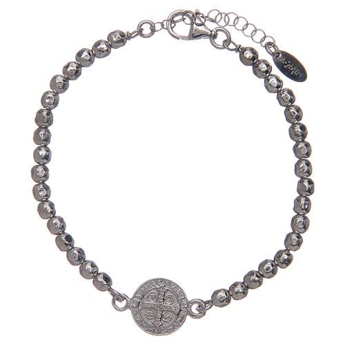 Saint Benedict medal bracelet in sterling silver 2