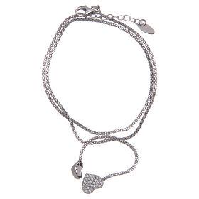 AMEN bracelets: Amen bracelet in 925 sterling silver with knot and hearts