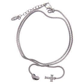 AMEN bracelets: Amen bracelet in 925 sterling silver with heart and cross
