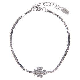 AMEN bracelets: Amen bracelet in 925 sterling silver with a zirconate angel pendant