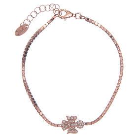 AMEN bracelets: Amen bracelet in 925 sterling silver with a rosè zirconate angel pendant