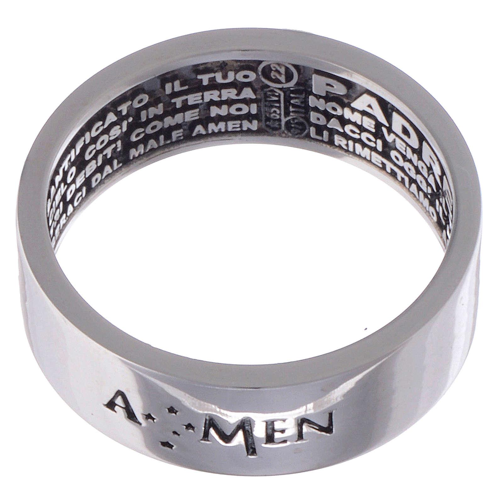Ring AMEN Silber 925 Vater Unser Innenseite 3