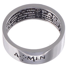 Prayer ring Our Father silver internal engraving in Italian AMEN s2