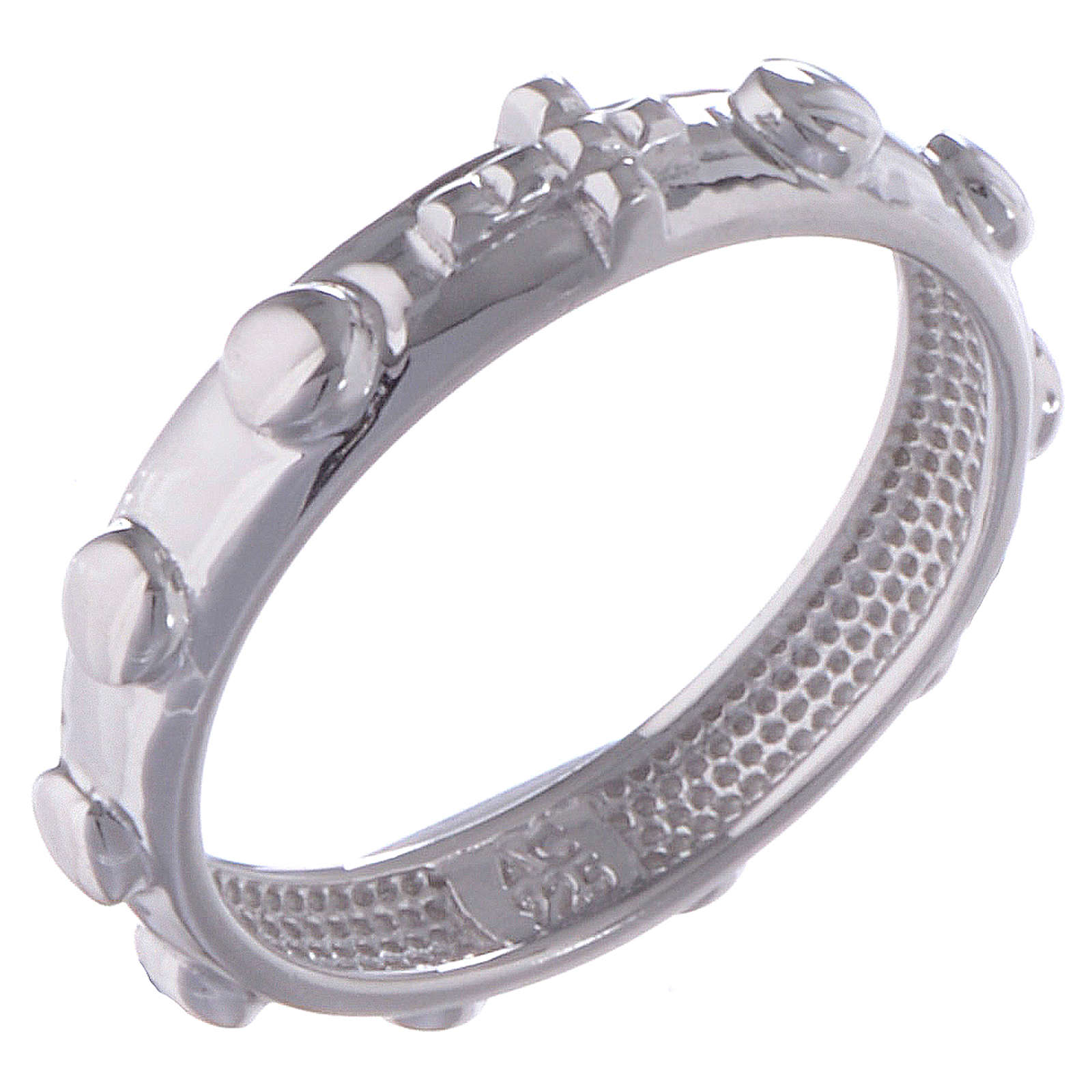 Rosary ring AMEN silver polished 3