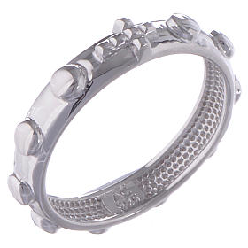 Prayer rings: Rosary ring AMEN silver polished