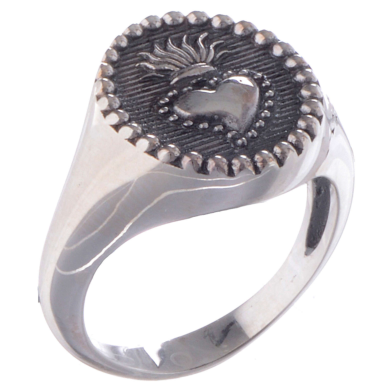 Silver ring Sacred Heart silver 925 3