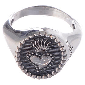 Silver ring Sacred Heart silver 925 s3