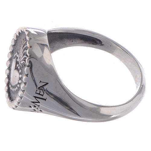 Silver ring Sacred Heart silver 925 2