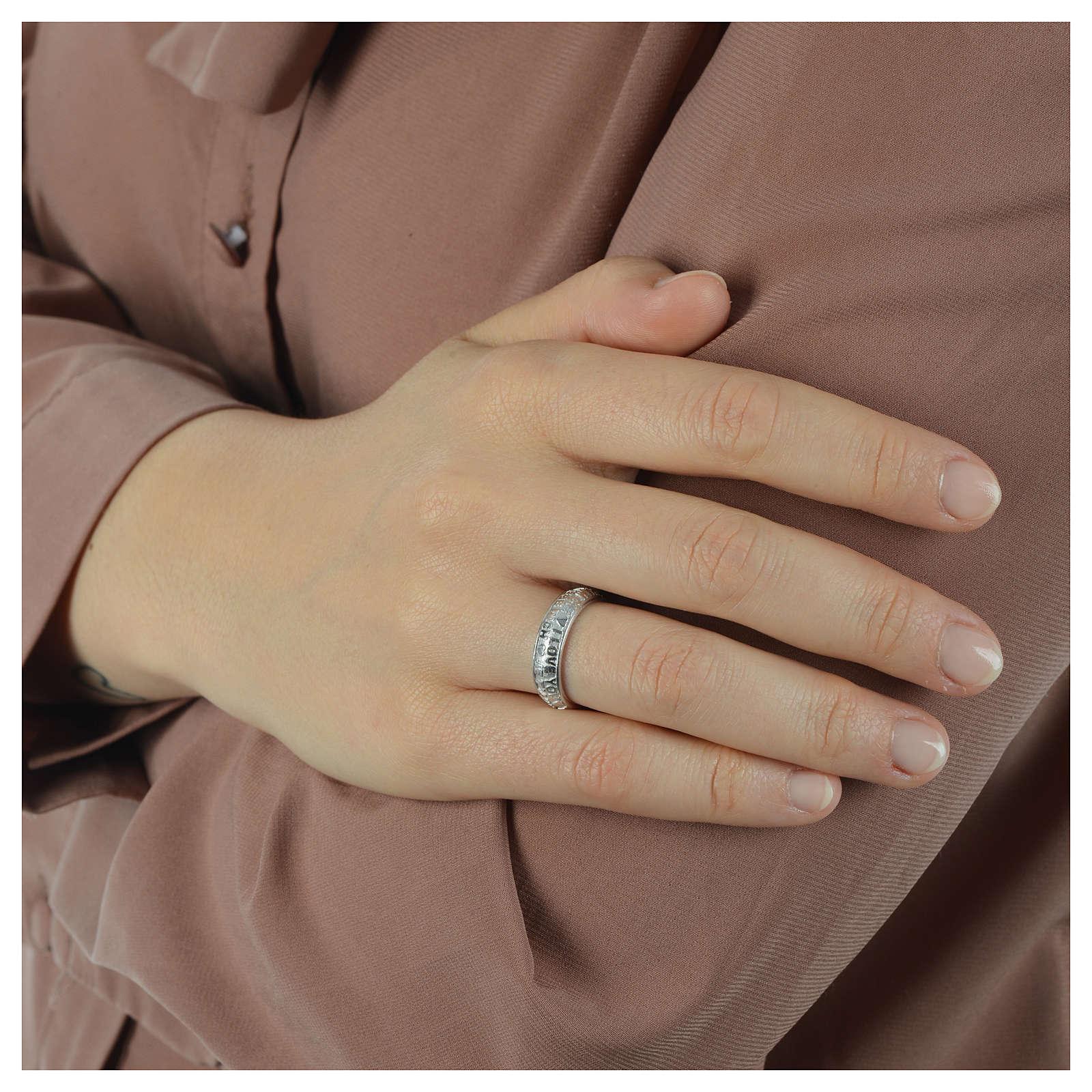 Silver ring AMEN I Love You 3