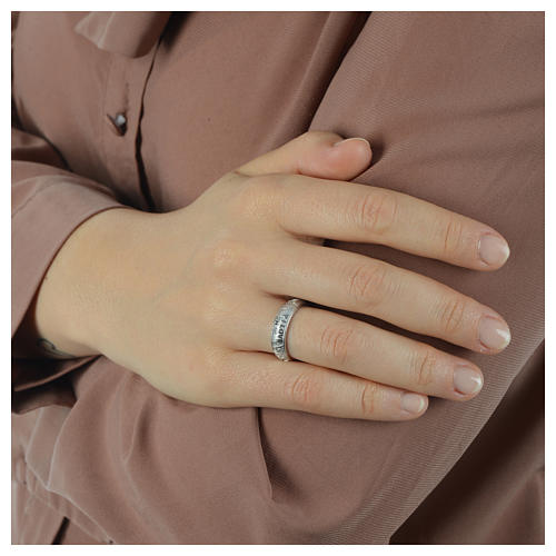 Silver ring AMEN I Love You 5