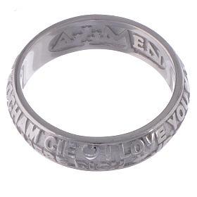 Anel Amen prata 925 Eu te amo s3
