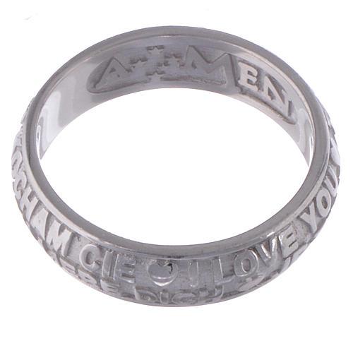 Anel Amen prata 925 Eu te amo 3