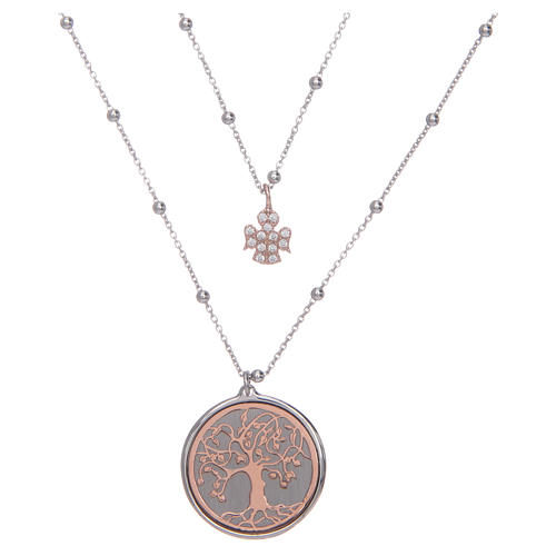 Amen long necklace with Tree of Life pendant in 925 sterling silver 1