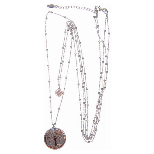 Amen long necklace with Tree of Life pendant in 925 sterling silver 3