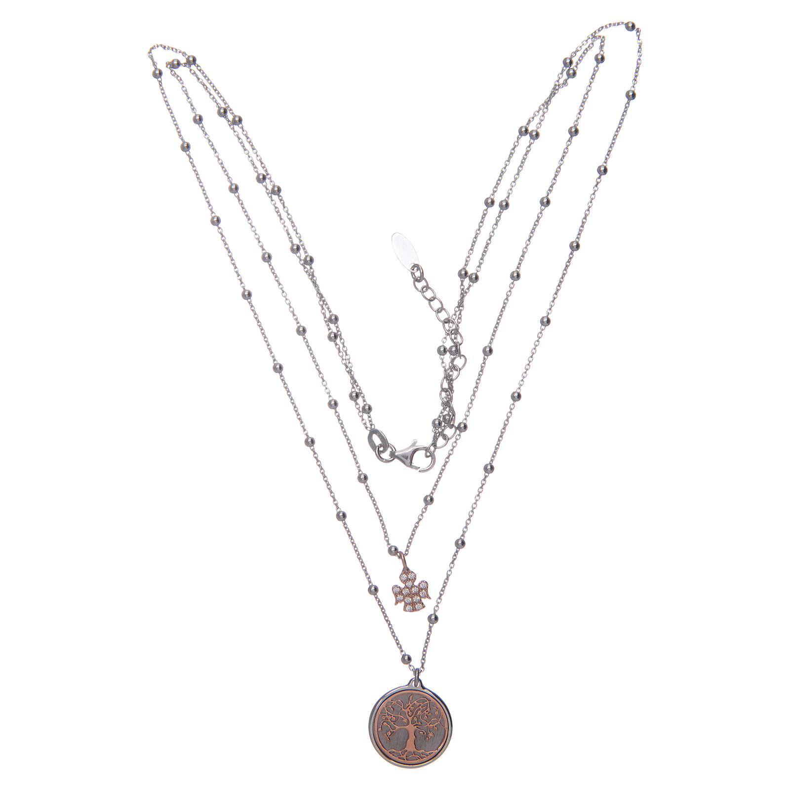 Amen choker with Tree of Life pendant in 925 sterling silver 4