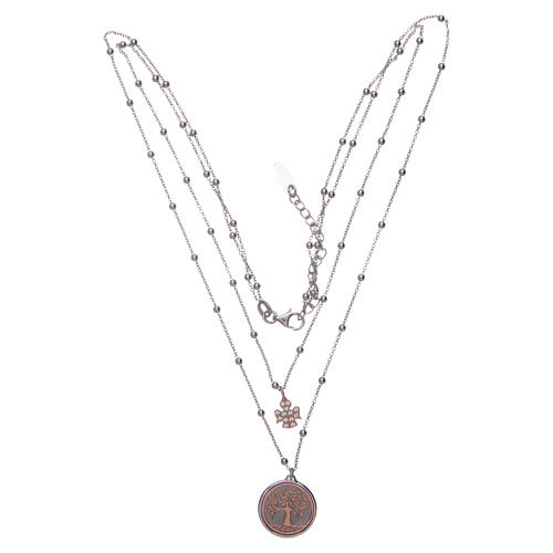 Amen choker with Tree of Life pendant in 925 sterling silver 3