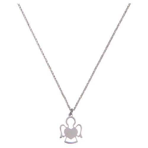 Amen silver necklace with Angel pendant 2