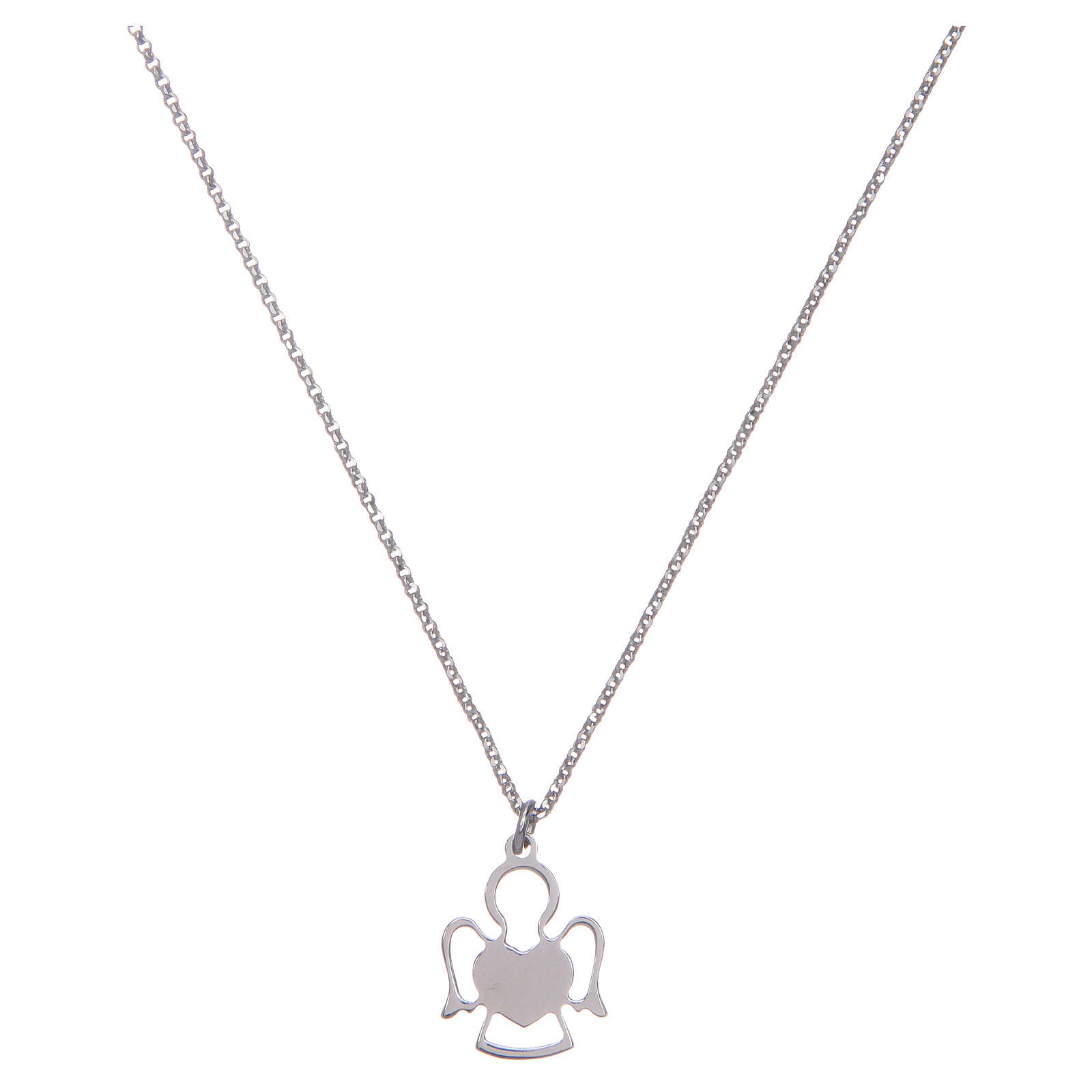 Amen silver necklace with Angel pendant 4